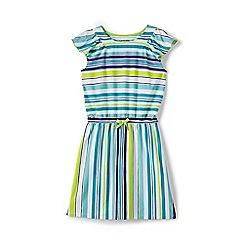 Lands' End - Girls' multicoloured flutter sleeve dress