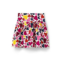 Lands' End - Girls' pink patterned skort