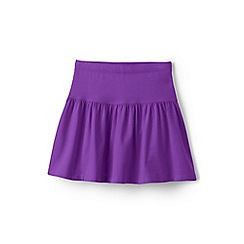 Lands' End - Girls' purple cotton skort
