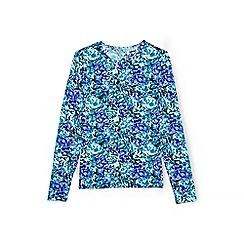 Lands' End - Blue regular wave print rash guard