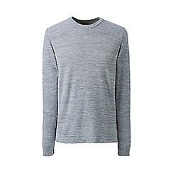 Lands' End - Grey regular seed stitch mariner cotton jumper