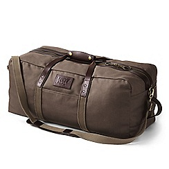 Lands' End - Brown waxed canvas holdall bag