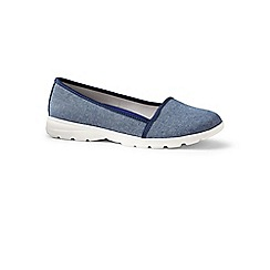 Lands' End - Blue regular alpargata slip-on shoes