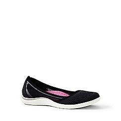 Lands' End - Black regular slip-on water shoes