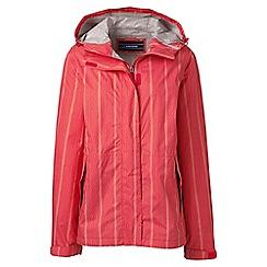 Lands' End - Orange regular patterned breakwater rain jacket