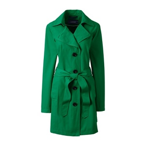 Lands' End Green harbour trench coat
