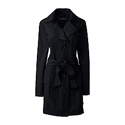 Lands' End - Black petite harbour trench coat