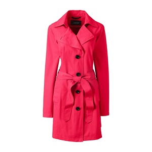 Lands' End Pink petite harbour trench coat
