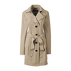 Lands' End - Beige petite harbour trench coat