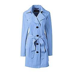 Lands' End - Blue petite harbour trench coat
