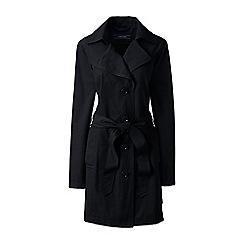 Lands' End - Black plus harbour trench coat