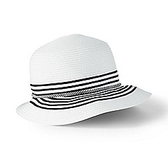 Lands' End - White cloche sun hat