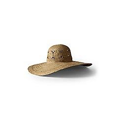 Lands' End - Beige patterned wide brim sun hat