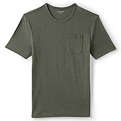 Lands' End - Green regular slub jersey seaworn tee