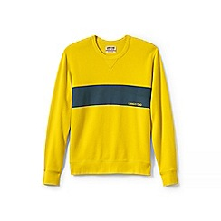 Lands' End - Yellow graphic jersey sweatshirt
