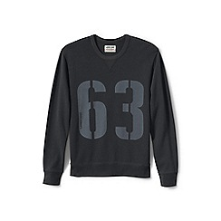 Lands' End - Grey graphic jersey sweatshirt