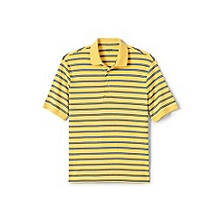 Lands' End - Yellow striped supima polo