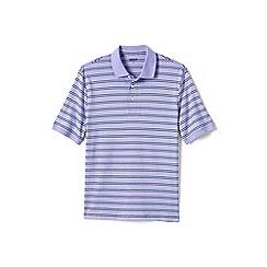Lands' End - Purple striped supima polo
