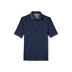 Lands' End - Blue jacquard supima polo