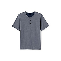 Lands' End - Grey regular henley pyjama t-shirt