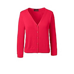 Lands' End - Pink plus supima 3-quarter sleeve cardigan