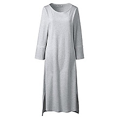 Lands' End - Light grey regular bracelet sleeve mid-calf supima nightdress