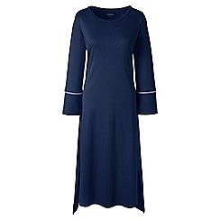 Lands' End - Dark blue regular bracelet sleeve mid-calf supima nightdress