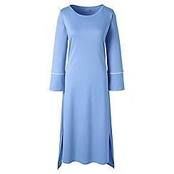 Lands' End - Light blue regular bracelet sleeve mid-calf supima nightdress