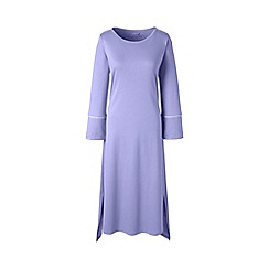 Lands' End - Purple plus bracelet sleeve mid-calf supima nightdress