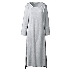 Lands' End - Grey plus bracelet sleeve mid-calf supima nightdress