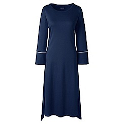 Lands' End - Blue plus bracelet sleeve mid-calf supima nightdress