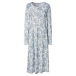 Lands' End - Multi supima patterned long sleeve calf-length nightdress