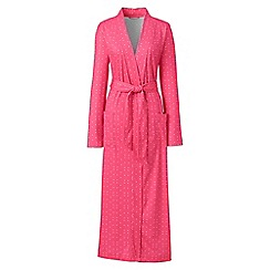 Lands' End - Pink supima patterned dressing gown