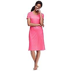 Lands' End - Pink supima patterned nightdress