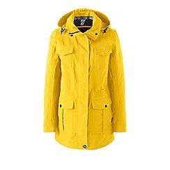 Lands' End - Yellow petite spring squall parka
