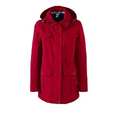 Lands' End - Red petite spring squall parka