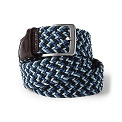 Lands' End - Blue regular plaited elastic belt