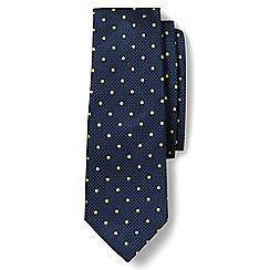 Lands' End - Blue regular churchill dot textured silk tie