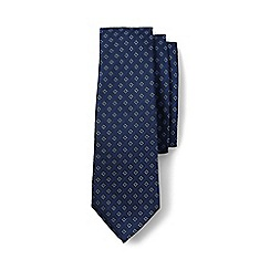 Lands' End - Blue regular star textured silk tie