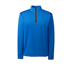 Lands' End - Blue sport tech half-zip pullover