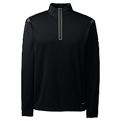 Lands' End - Black sport tech half-zip pullover