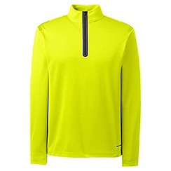 Lands' End - Yellow sport tech half-zip pullover