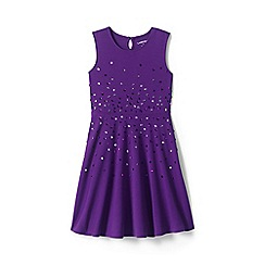 Lands' End - Purple girls' sleeveless sparkle ponte dress