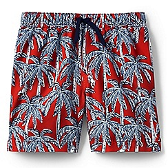 Lands' End - Boys' orange volley printed swim shorts