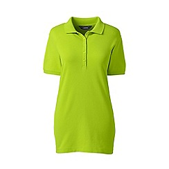 Lands' End - Green short sleeve pique polo shirt