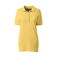 Lands' End - Yellow short sleeve pique polo shirt