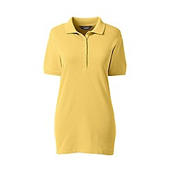 Lands' End - Yellow petite short sleeve pique polo shirt