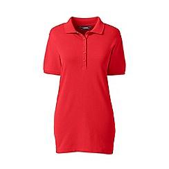 Lands' End - Orange petite short sleeve pique polo shirt