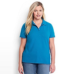 Lands' End - Blue short sleeves pique polo