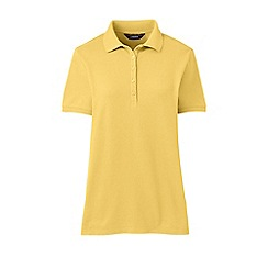 Lands' End - Yellow plus short sleeve pique polo shirt